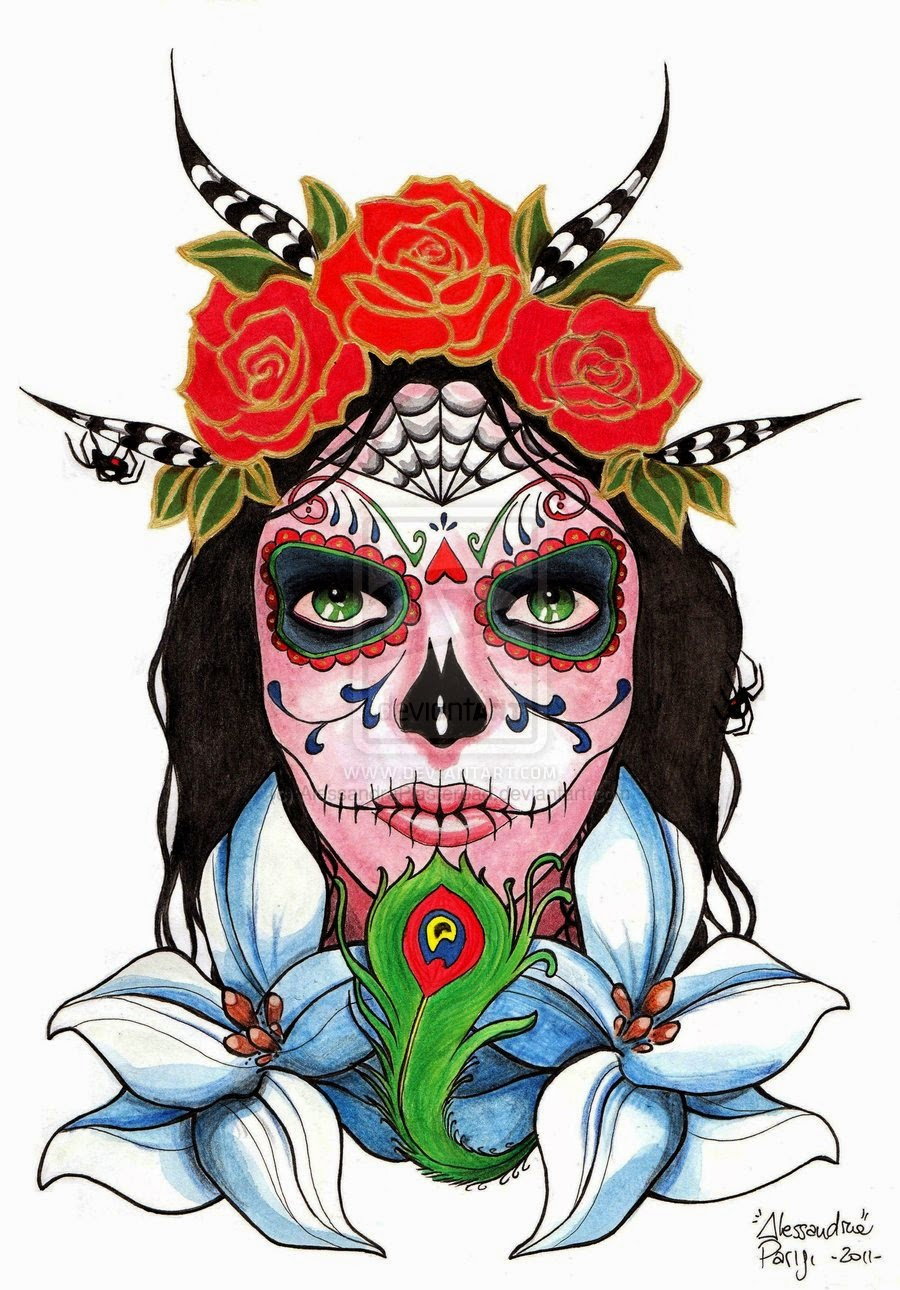 Pretty Catrina Tattoos Design Idea