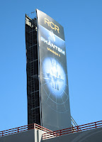 tall vertical billboard spied along Sunset Boulevard on February 11, 2013
