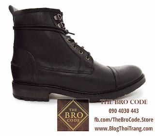 Giày Boot Lính ASOS Màu Đen | ASOS Workboot in Leather