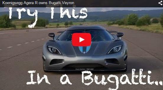 Koenigsegg Agera R owns Bugatti Veyron
