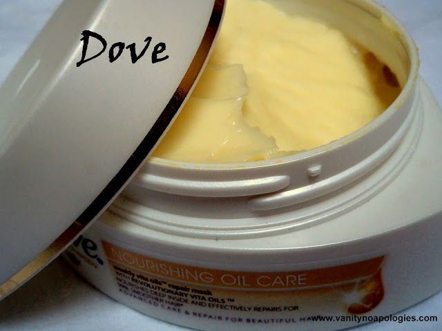 dove nourishing oil care repair mask