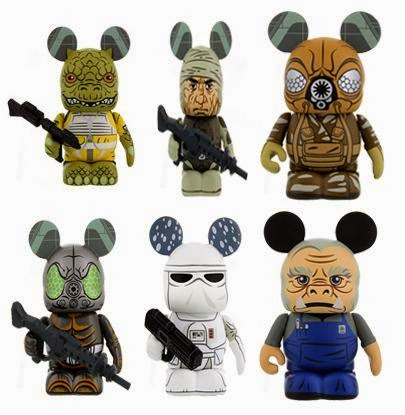 Star Wars Vinylmation Series 4 by Disney - Bossk, Dengar, Zuckuss, 4-Lom, Snowtrooper & Ugnaught