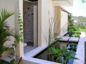 Desain Taman Rumah Kolam Minimalis Modern