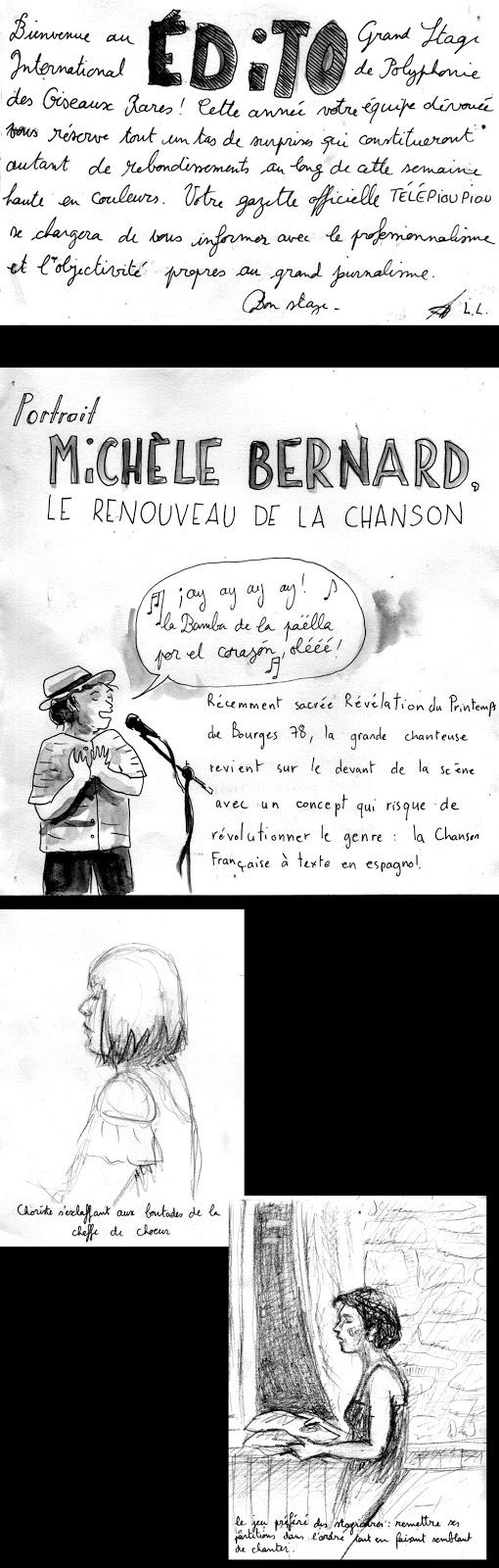 """Le titre/thème de la semaine c'est """"Gracias a la Vida"""", pas mal pour un stage de chanson française!!"""