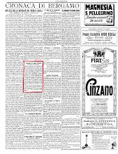 """""""ECO DI BERGAMO"""" 4 AGOSTO 1925"""