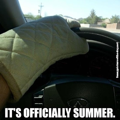 It's Officially Summer Funny Wearing Oven Mitt While Driving Florida Humor