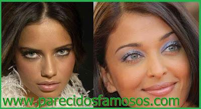 Parecido entre Adriana Lima y Aishwarya Rai