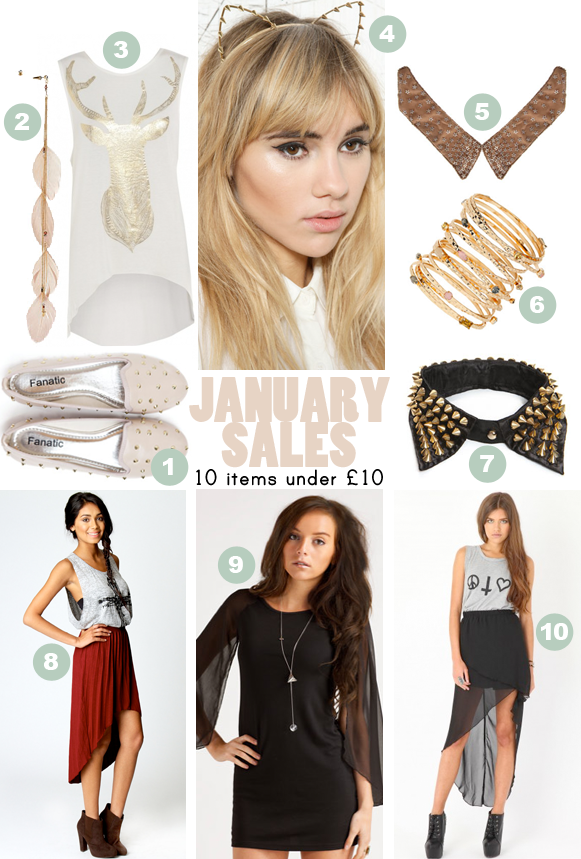 January sales 10 items under £10
