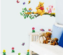 Fancy Simply peel them off your wall and they won ut damage your paint or leave any messy sticky residues These Winnie the Pooh decorative wall stickers are