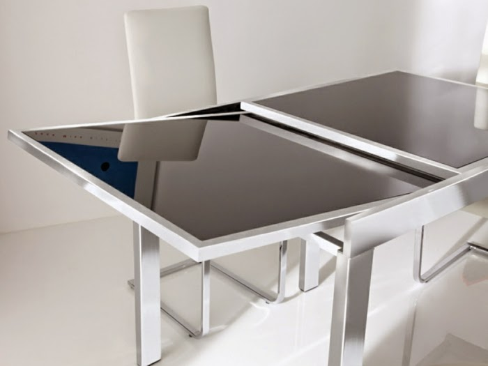 10 Extendable dining tables of glass wood and plastic : metal glass extedable dining table for small rooms from interldecor.blogspot.com size 700 x 525 jpeg 33kB
