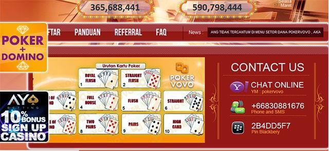 Poker vovo situs judi poker online terpercaya