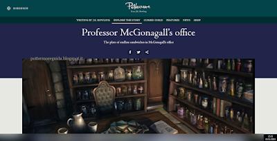 L'ufficio della professoressa McGranitt, secondo Pottermore