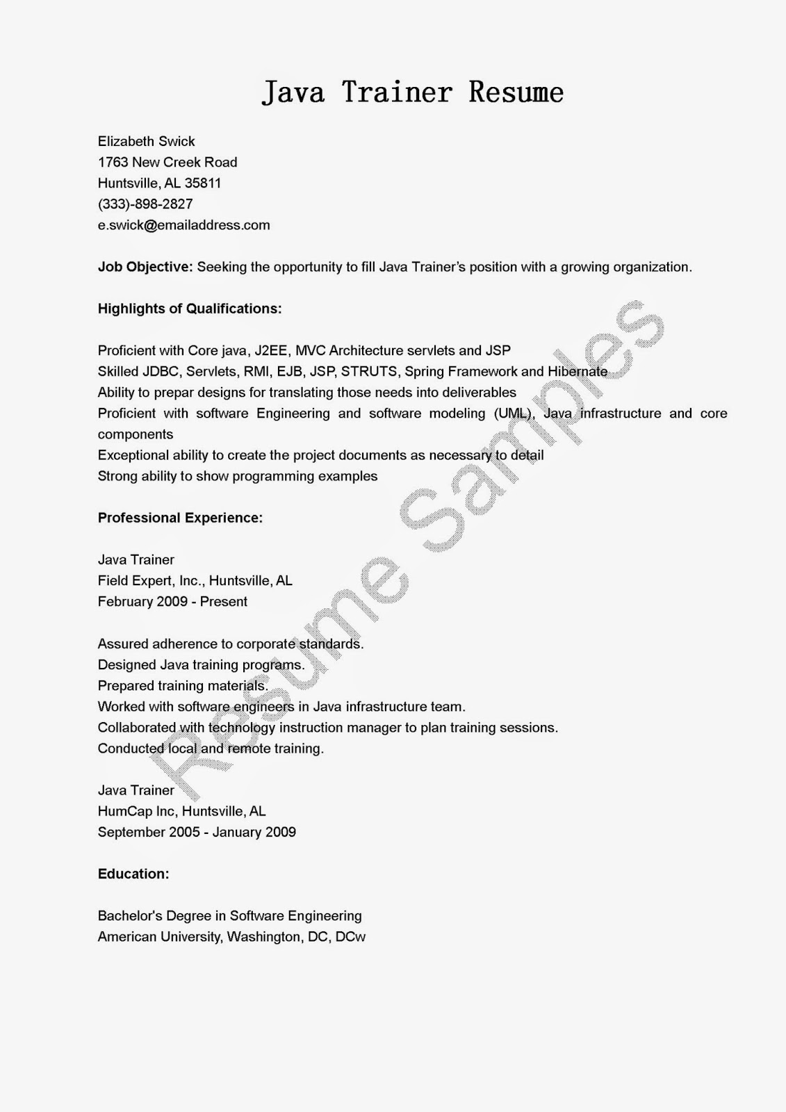 Trainer Resume Termination Letter Of Employment Sample Formal