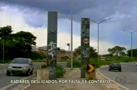 Radar desligado há três meses às margens da MG 020 é uma armadilha para moradores de Santa Luzia
