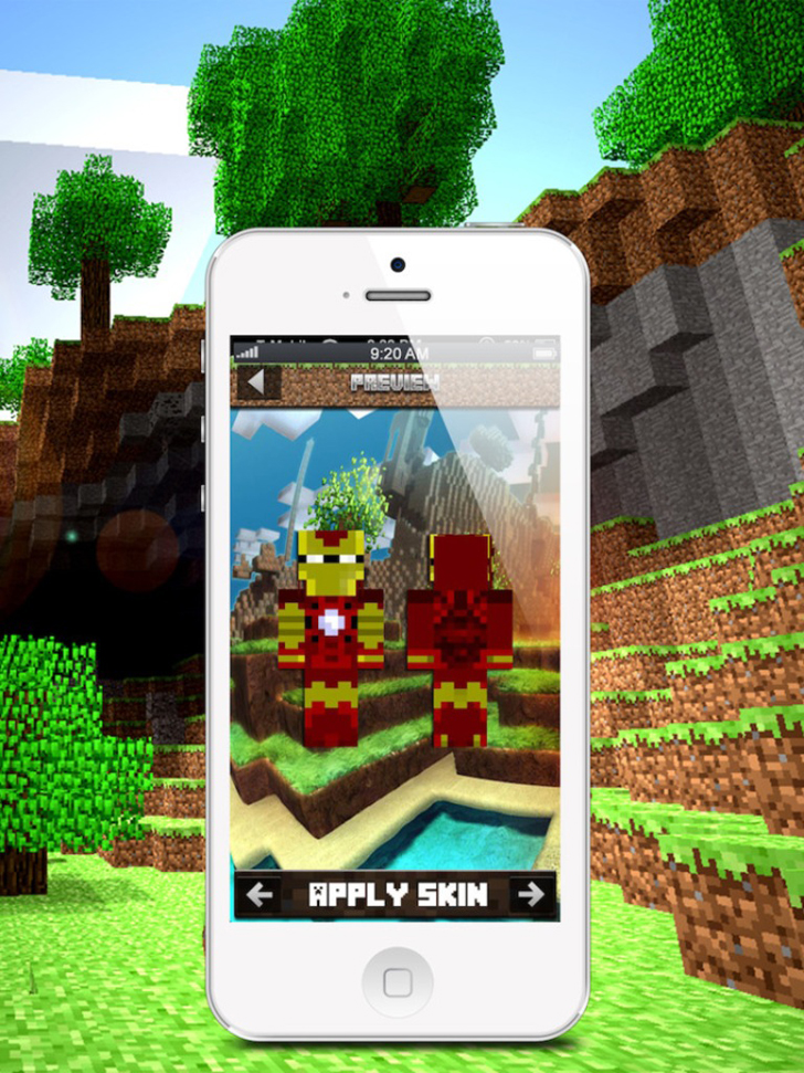 Skins For Minecraft: Super Hero Edition App iTunes App By David Garcia - FreeApps.ws