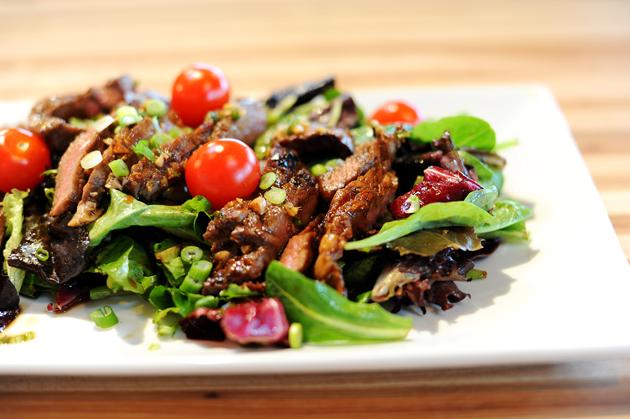 sadie + stella: S+S chow: ginger steak salad