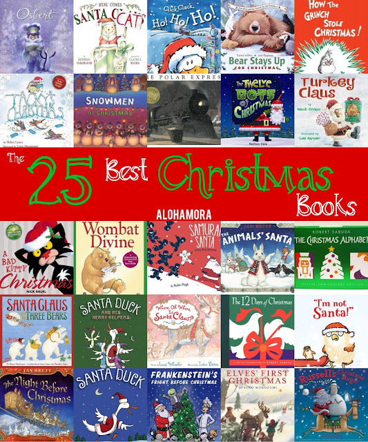 The 25 Best Christmas Picture Books.  These books are fantastic, funny, touching, classic, award winners, and so much more..  These reads are fun for kids of all ages, and parents, teachers, and librarians will enjoy  these read alouds.  Alohamora Open a Book http://alohamoraopenabook.blogspot.com/ lesson idea, toddlersl, preschool, kindergarten, 1st, 2nd, 3rd, 4th, 5th, 6th