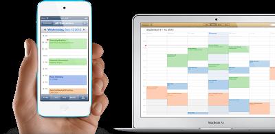 iCloud armazena seus calendários, e- mails e contatos