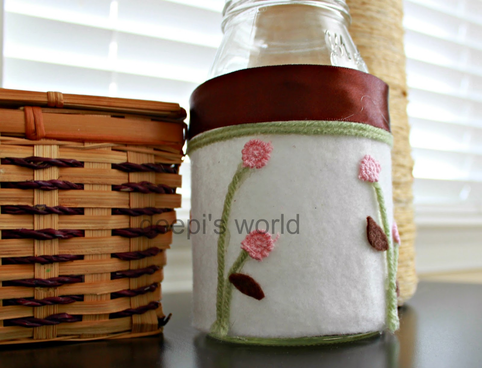 Deepi 39 s world january 2015 for How to decorate empty glass jars