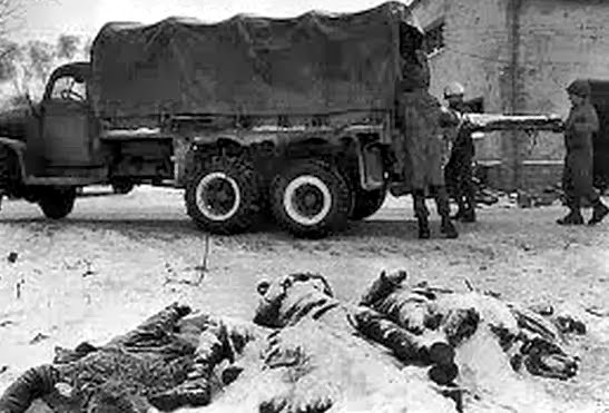 American dead in the battle of the bulge