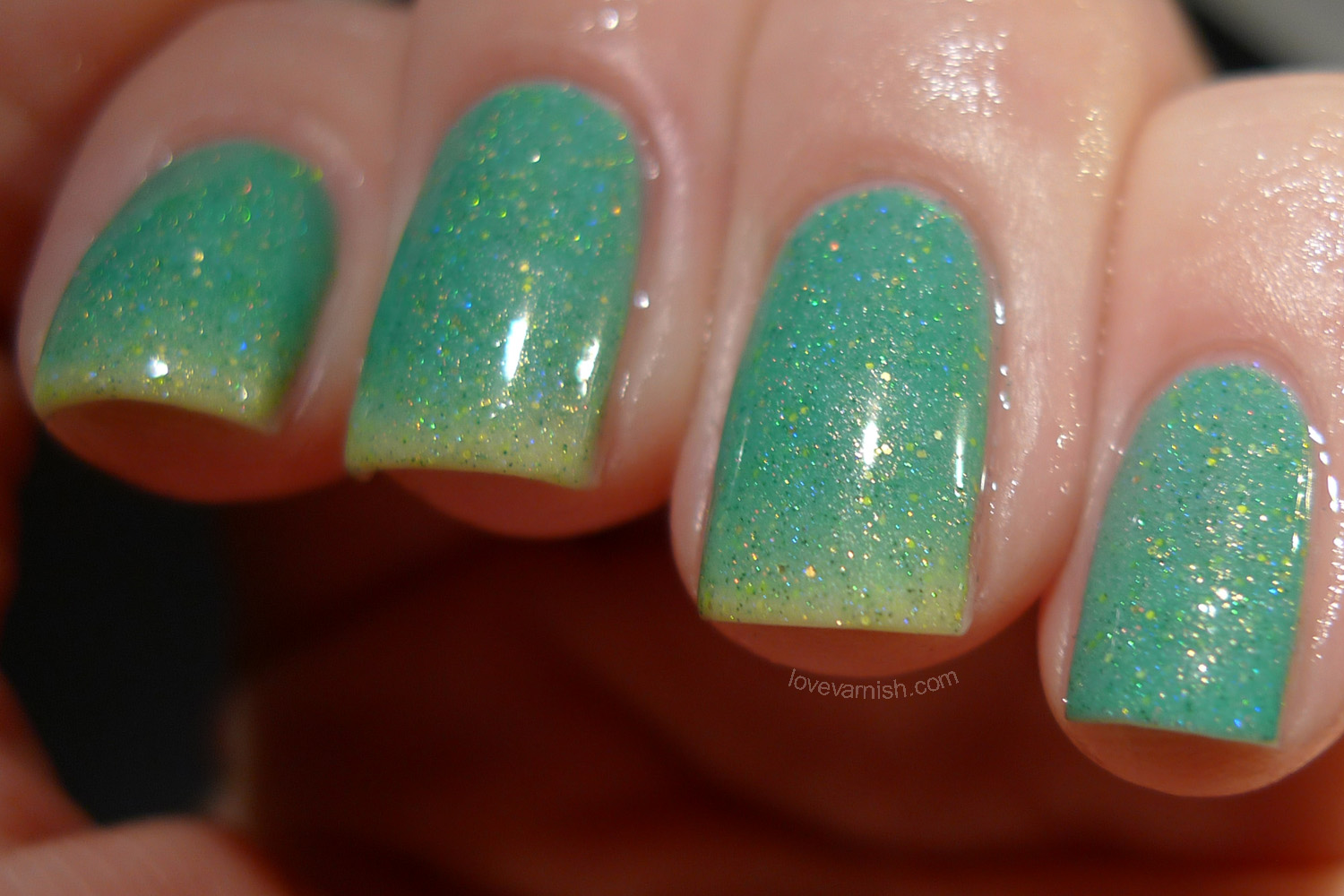 Polish Addict Nail Color Clovers transition