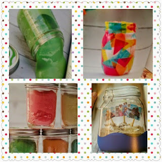 Mason Jar Crafts for Kids jar sizes sample prjects collage