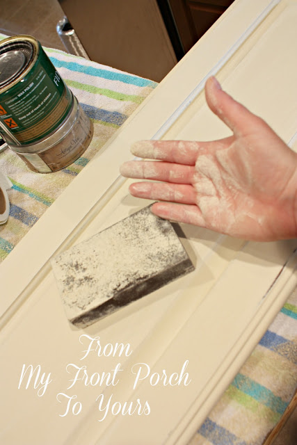 cabinet painting tutorial using old ochre annie sloan chalk paint. Black Bedroom Furniture Sets. Home Design Ideas