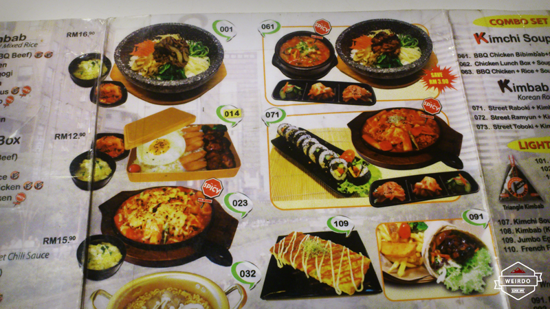 Cafe Soo Korea Menu