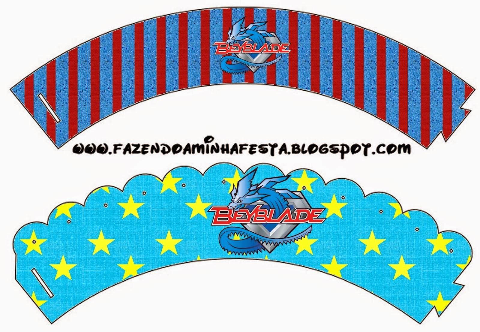 Wrappers para Cupcake de Beyblade.