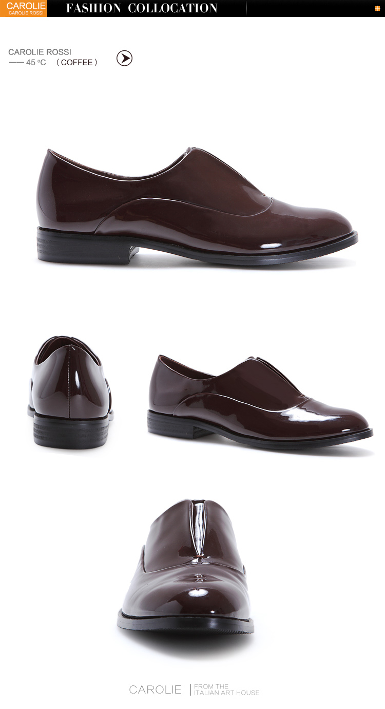 carolie rossi fashion monk derby shoes for women shining leather can be wear to school