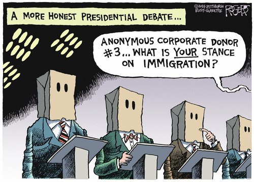 Corporate puppets