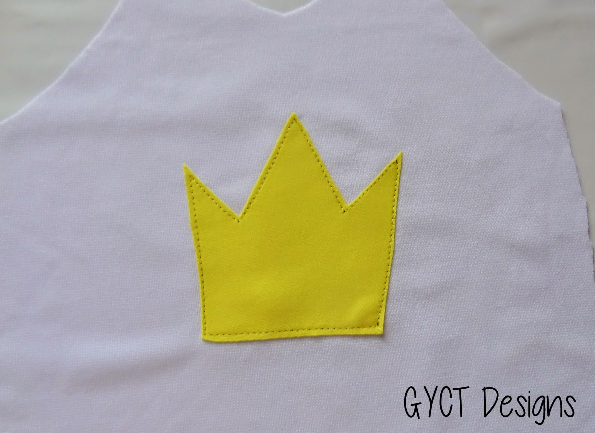 Princess Peach T-shirt Applique & Tutorial by GYCT