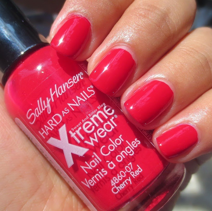 Sally Hansen cherry red swatch india