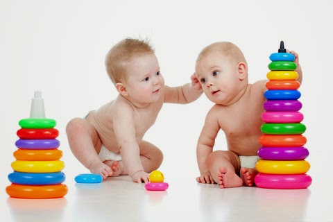 Cute Baby Boys Playing