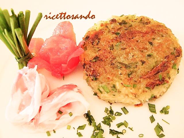 Rosti vegetariano patate contorno