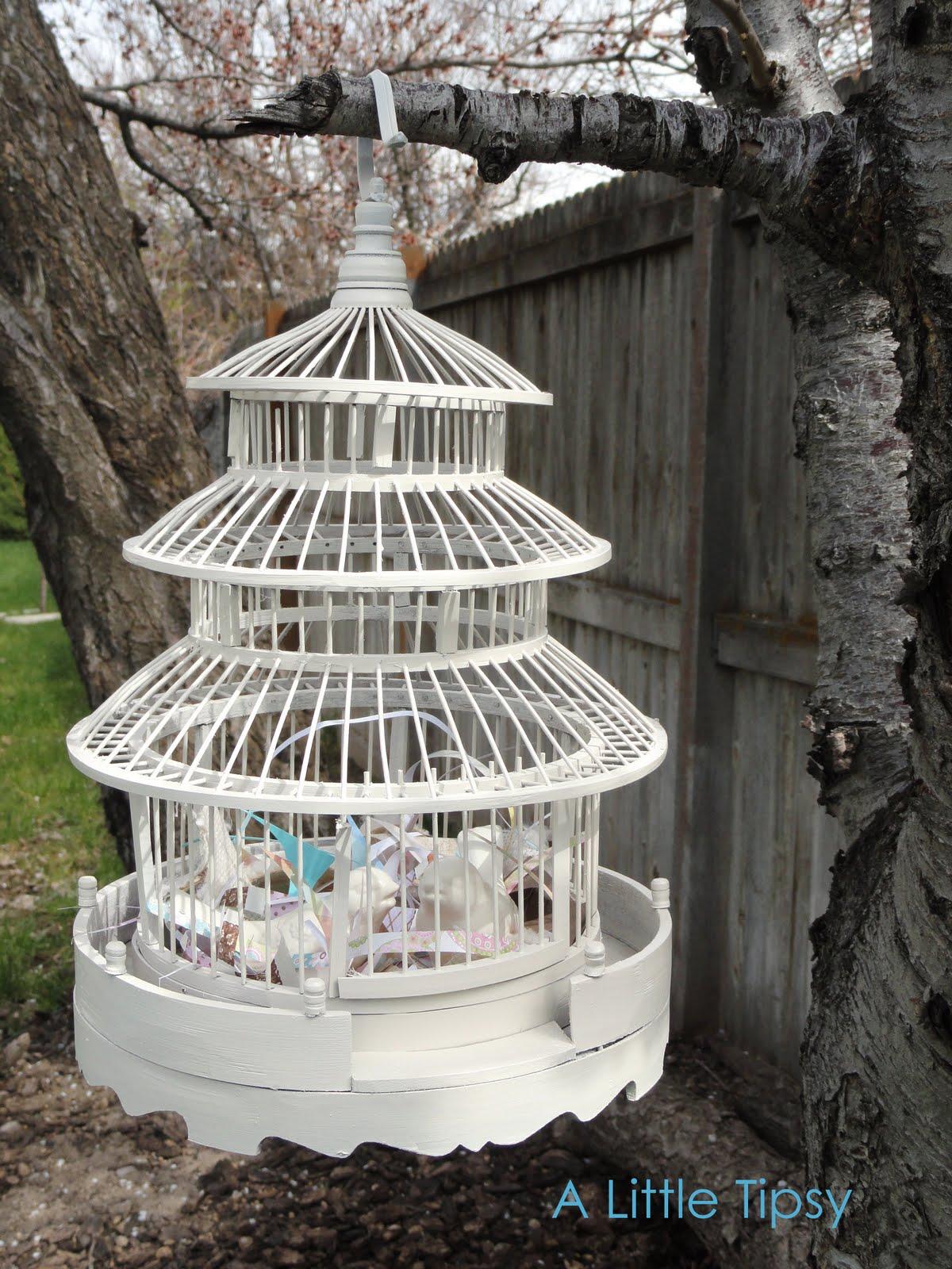 diy under 5 bird cage a little tipsy. Black Bedroom Furniture Sets. Home Design Ideas