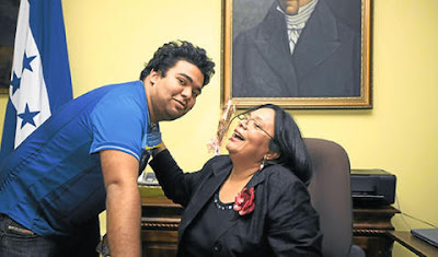 Rafael Vargas Castellanos (1989-2011) with mother, Julieta Castellanos