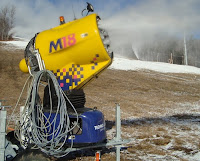 Fan gun at Whiteface, a few days before opening day in 2010.  The Saratoga Skier and Hiker, first-hand accounts of adventures in the Adirondacks and beyond, and Gore Mountain ski blog.