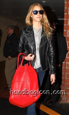 cute with a red Givenchy Nightingale Purse