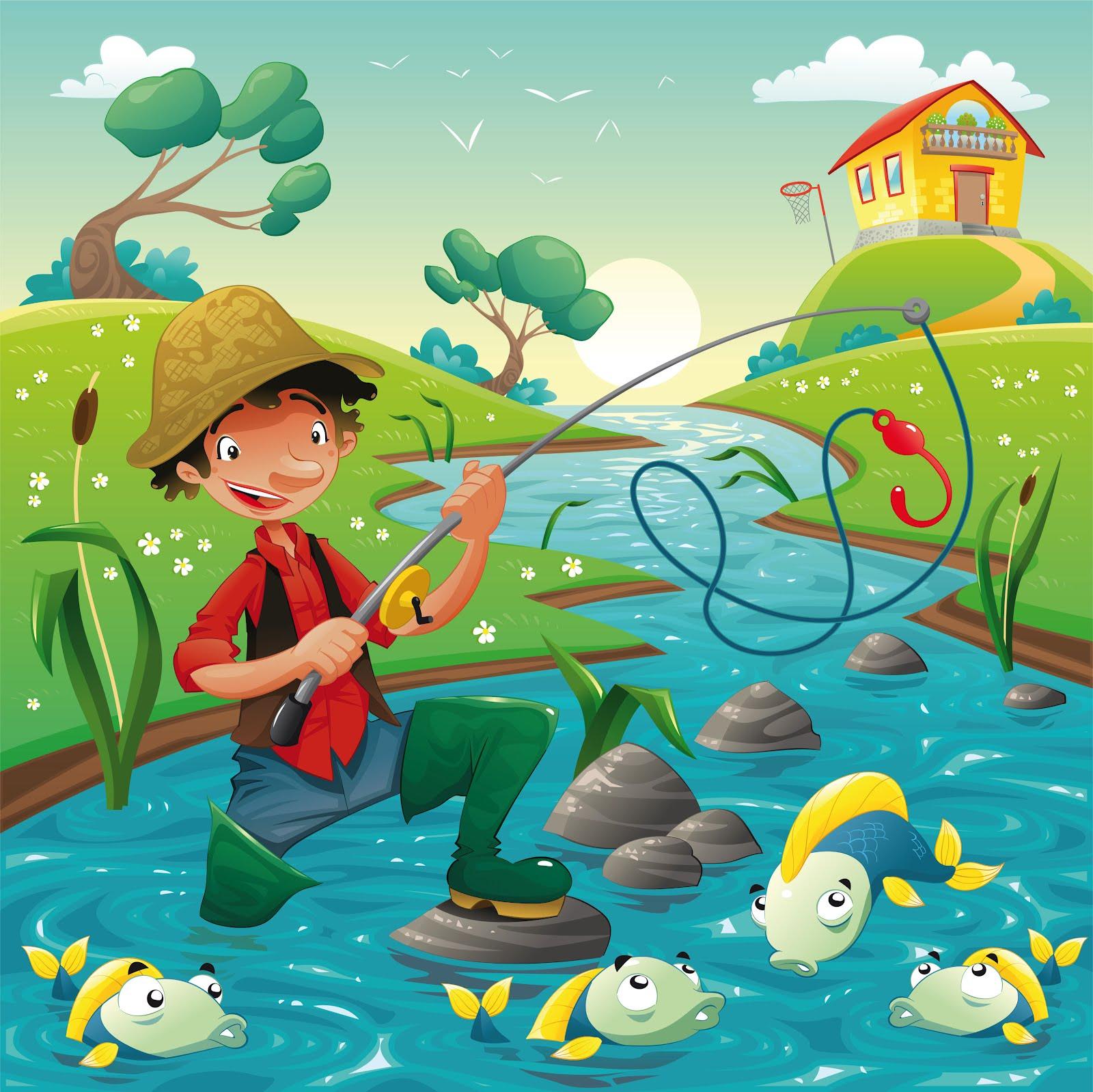 Banco de imÁgenes pescador ilusiones con peces