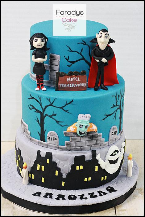 Hotel transylvania cake where everything is made with love for Hotel transylvania 2 decorations