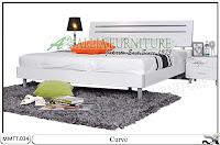 Tempat tidur desain minimalis modern curve
