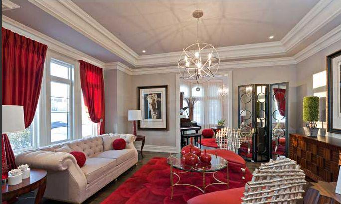 Beautiful living rooms dulha dulhan for Red black and silver living room ideas