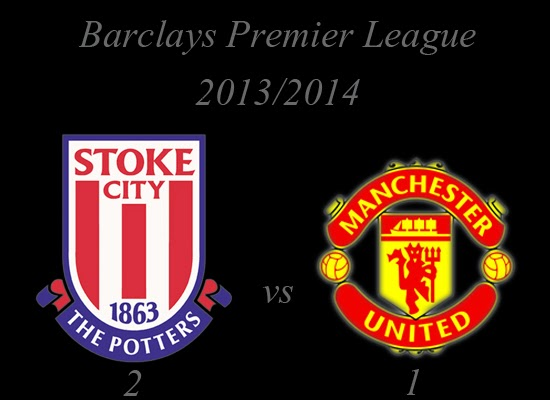 Stoke City vs Manchester United Result Barclays Premier League 20132014