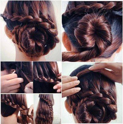 4 Easy Back Bun Hair Styles Tutorials | Hair