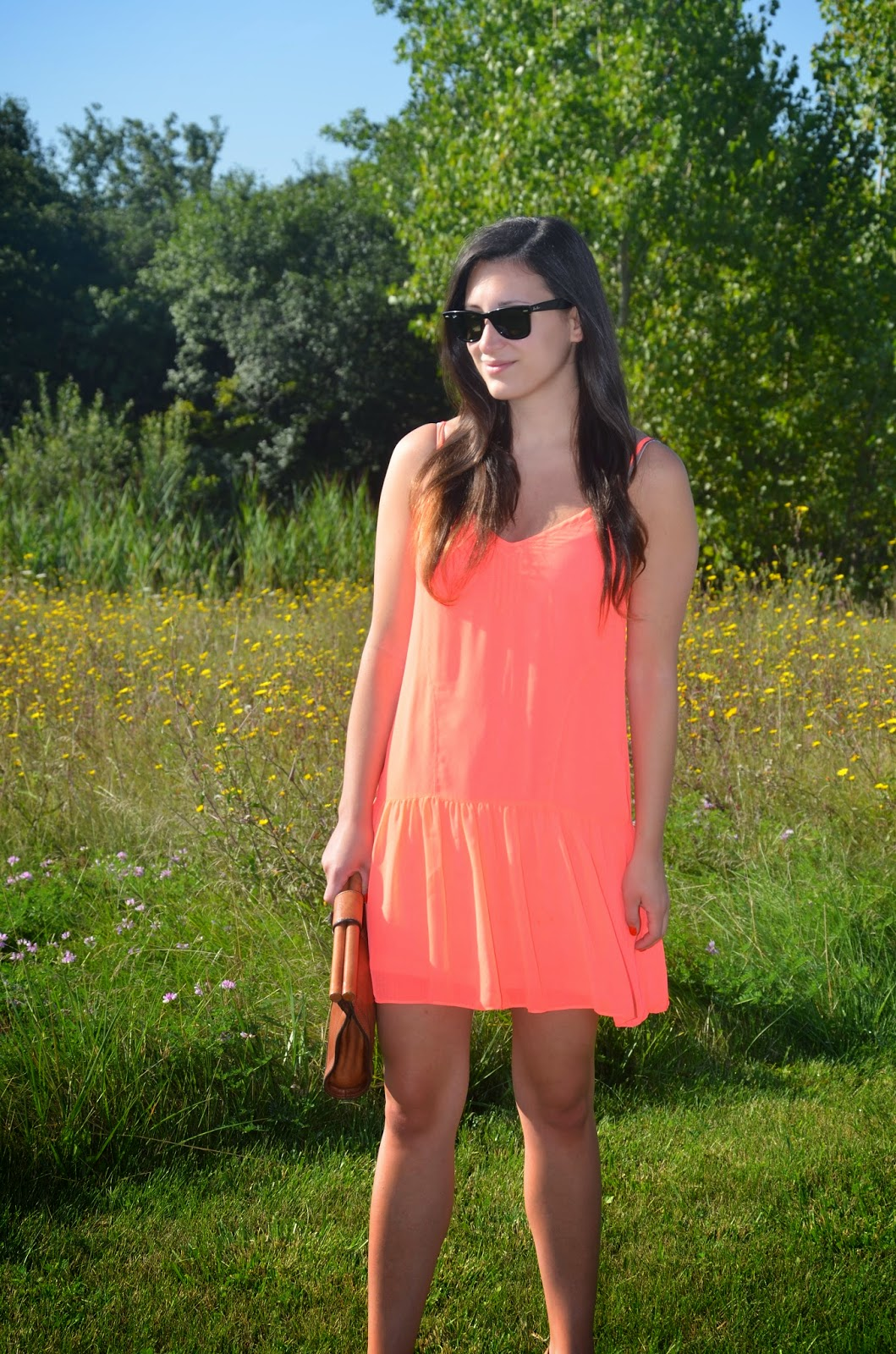 neon dolce vita drop waist dress