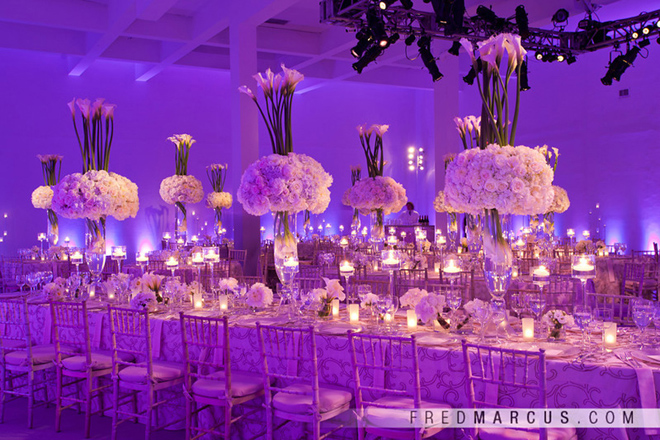 Wedding table centrepieces romantic decoration for Long table centerpieces