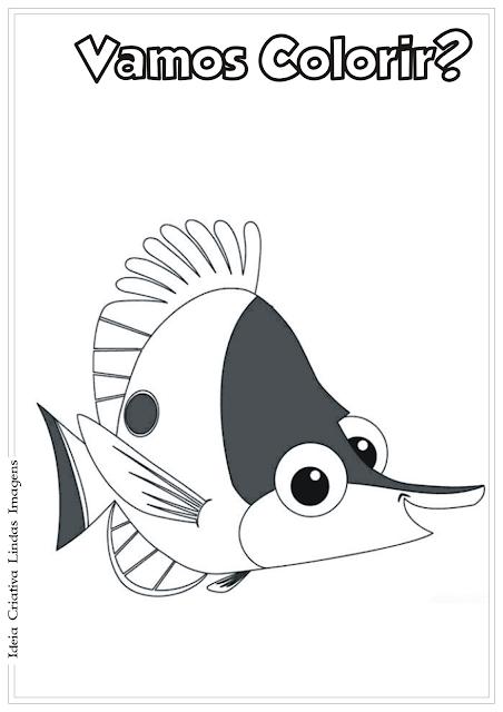 Procurando o Nemo desenho pra colorir
