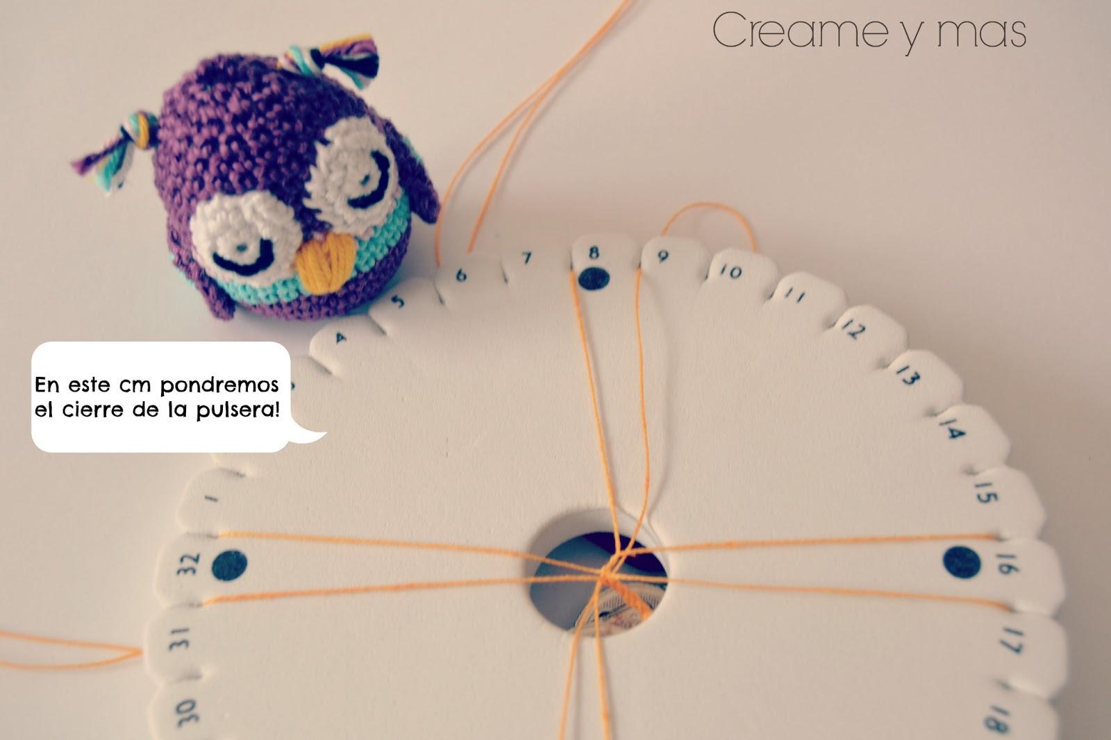 Creame y mas: DIY - Pulsera kumihimo con rocallas