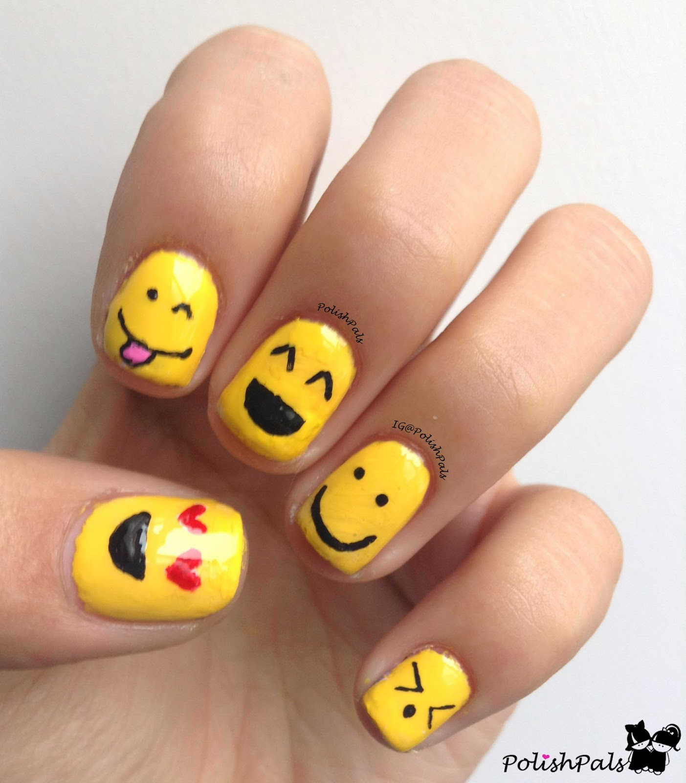 Polish Pals S Is For Smiley Face Nail Art